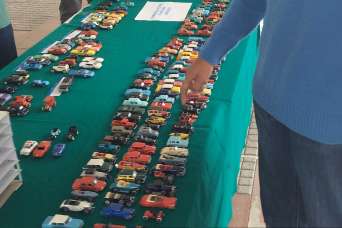 Display of handmade cars