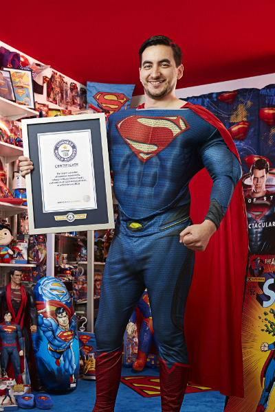 Largest collection of superman memorabilia 1