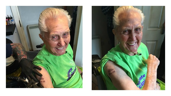 Oldest man tattoo collage