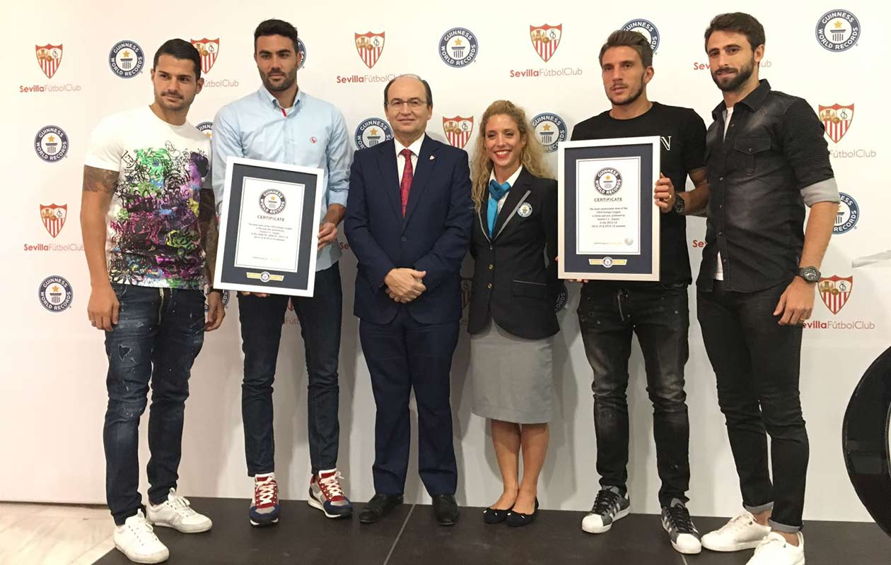 Video: Sevilla stars Pareja, Vitolo, and Iborra discuss Sevilla FC's record breaking Europa League treble