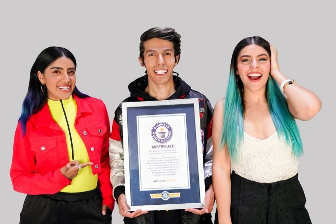 Most YouTube Diamond Play buttons earned by family members