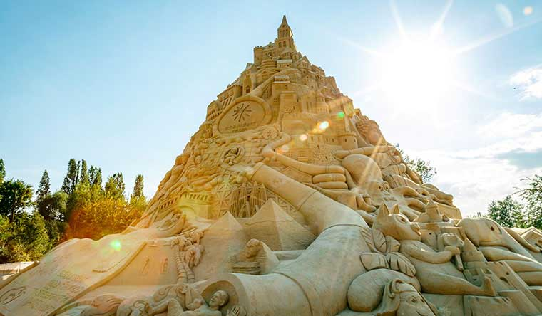 Highest Sandcastle Built To Promote Community Engagement