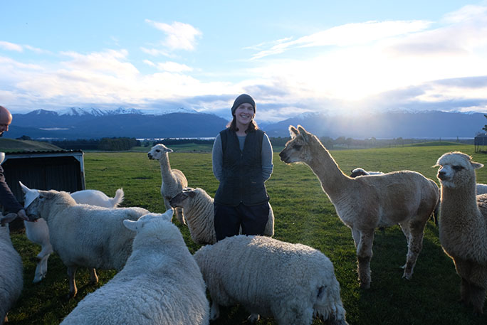 With some llamas in New Zealand