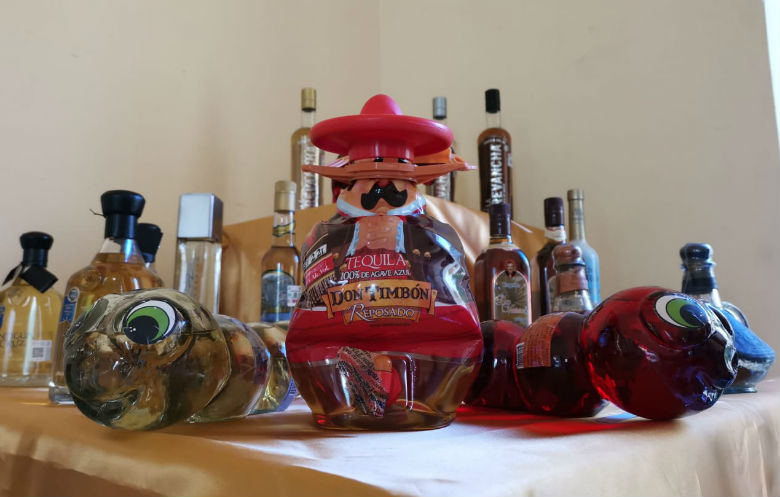 Most different Tequila bottles on display